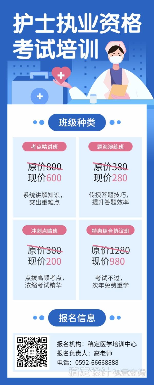 护士职业资格考试/培训招生/课程长图海报