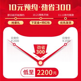 双十一预售/时间线/预约立省/活动主图