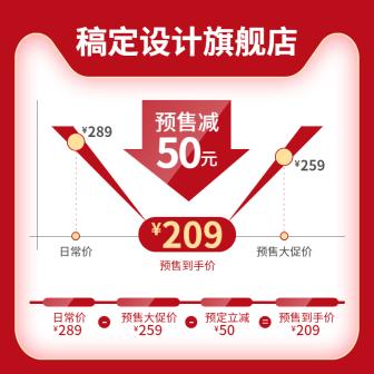 双十一预售/价格曲线/时间线/创意活动主图
