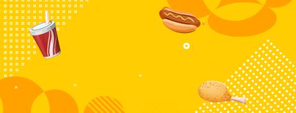 餐饮美食/汉堡炸鸡促销/手绘卡通/美团外卖店招