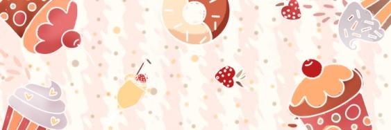 餐饮美食/蛋糕甜品促销/手绘可爱/饿了么店招