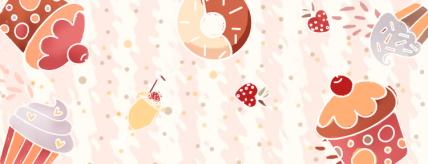 餐饮美食/蛋糕甜品促销/手绘可爱/美团外卖店招