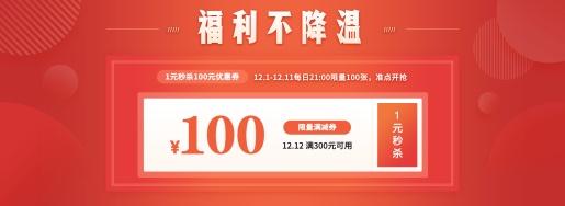 双十二/1212促销/简约/红色/优惠券