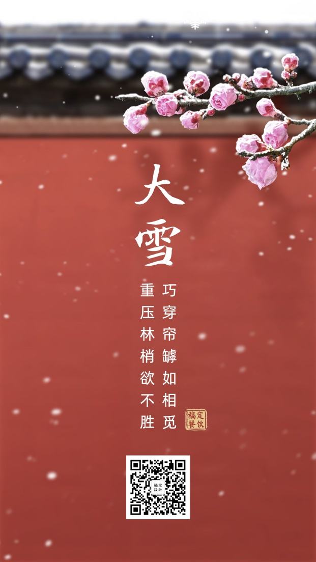 大雪节气/餐饮美食/中国风实景/手机海报