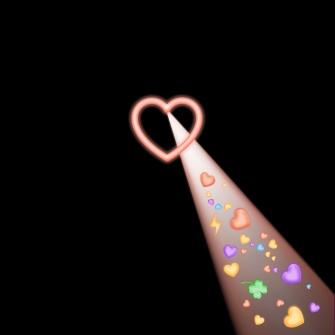 粉色桃心朋友圈封面
