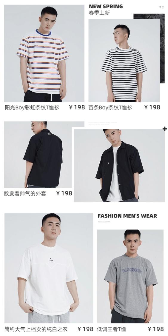 春夏上新男装产品展示海报
