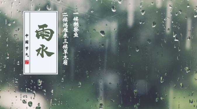 雨水二十四节气横版海报