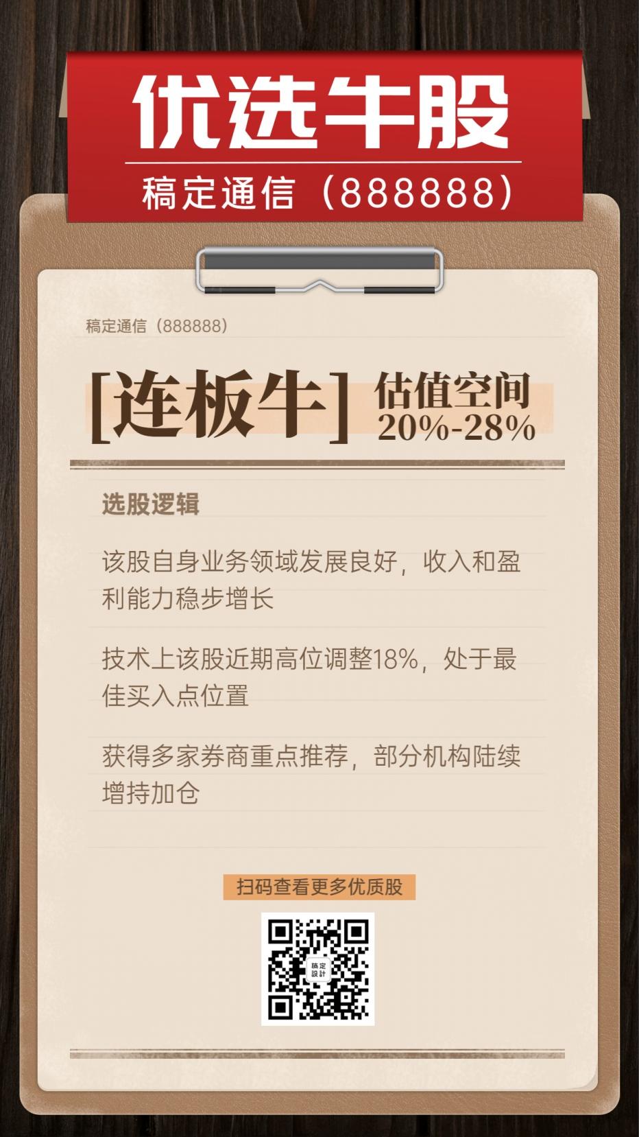 精选牛股股票详情金融投资海报