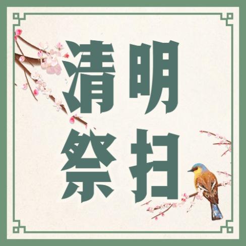 清明节文明祭扫中国风公众号次图