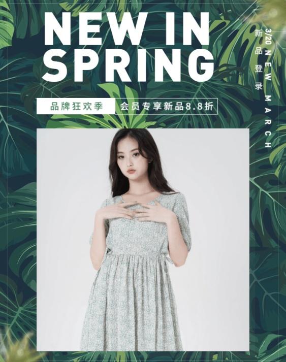 春季上新/女装海报
