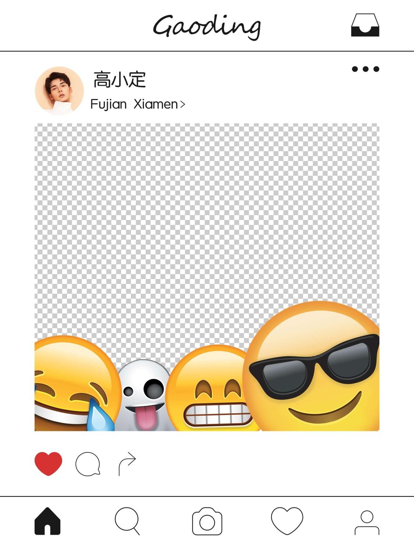emoji表情创意手持KT板