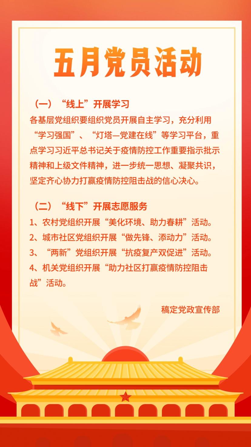 两会党员活动介绍党政教育手机海报