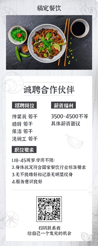 餐饮/招聘/长图海报
