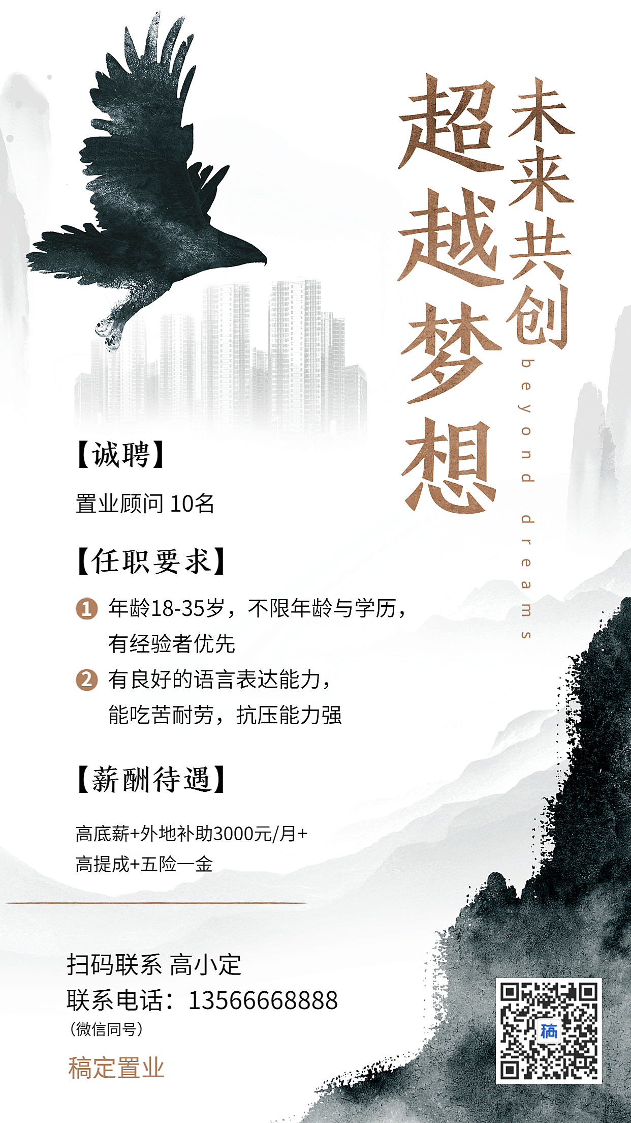 房地产行业销售招聘海报