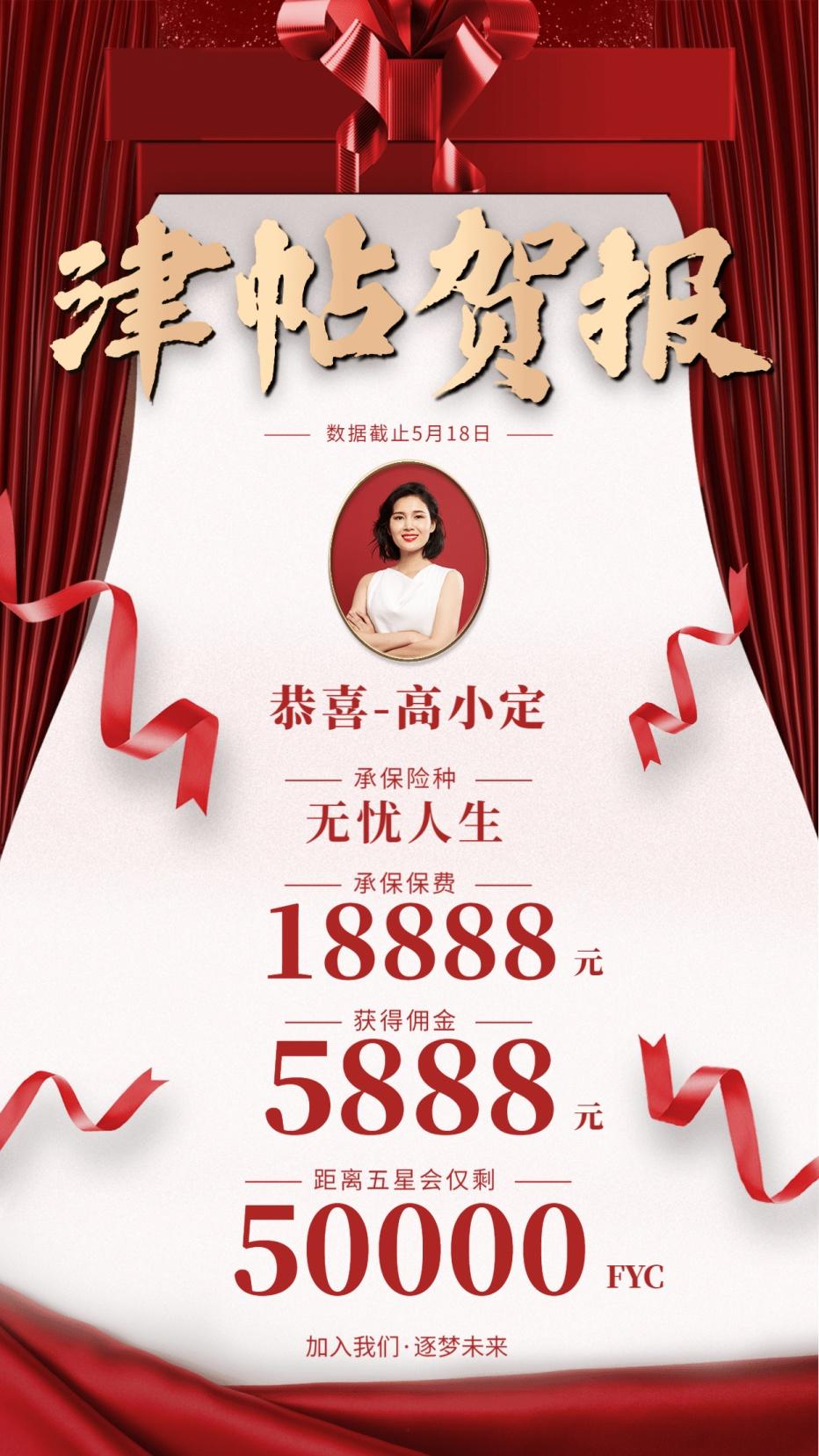 银行贷款宣传名片_【励志主题海报】开门红·正能量励志海报模板精选