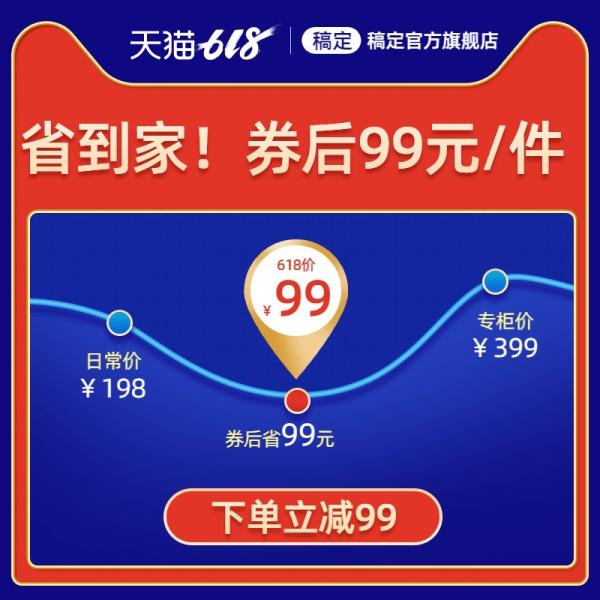 618年中大促价格曲线活动主图