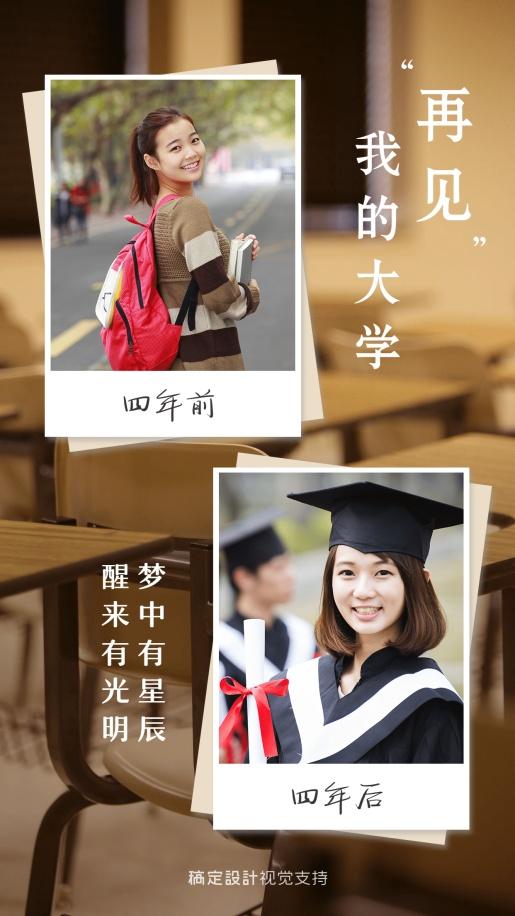 毕业纪念再见大学相册晒图海报