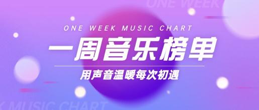 音乐榜单娱乐简单背景公众号首图