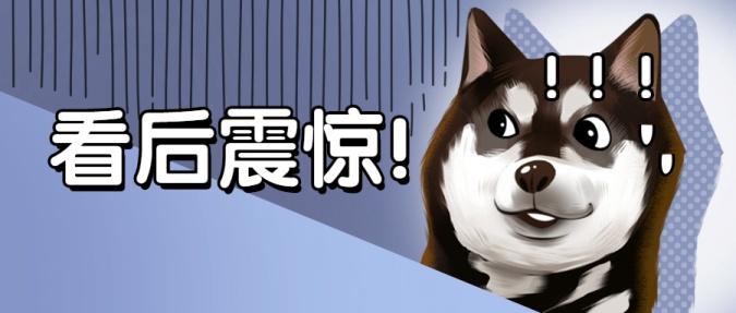 哈士奇狗头震惊吃惊趣味公众号首图