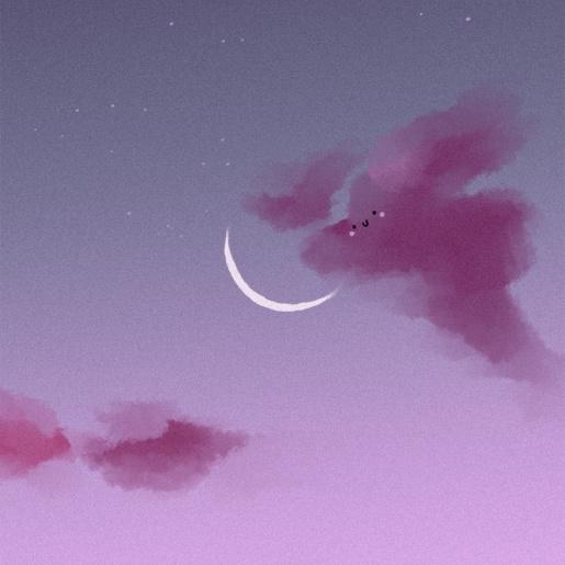 晚安夜晚星空日系天空朋友圈封面