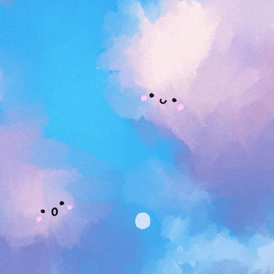 日系清新天空天空云朵朋友圈封面