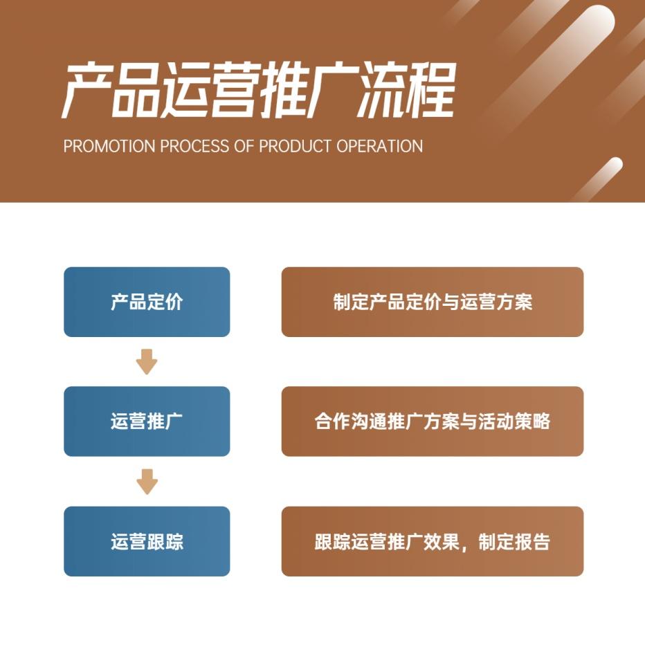 产品运营推广流程方形图表海报