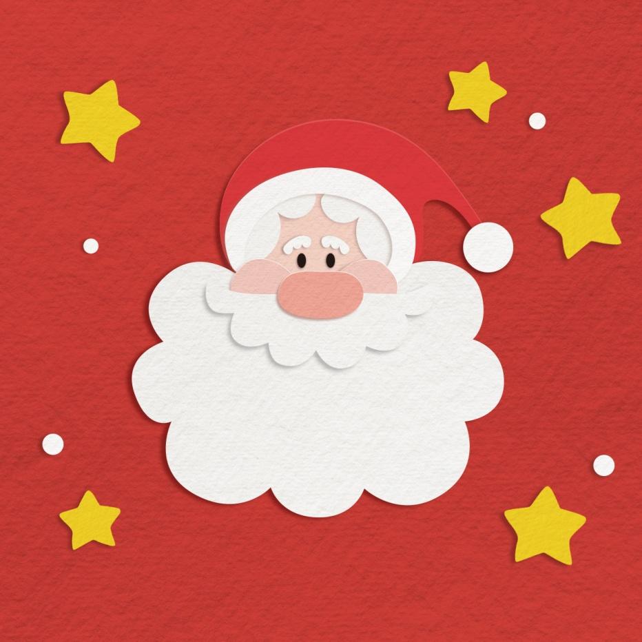 圣诞平安夜祝福剪纸插画朋友圈封面