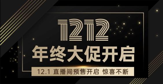 双12黑金风活动海报banner