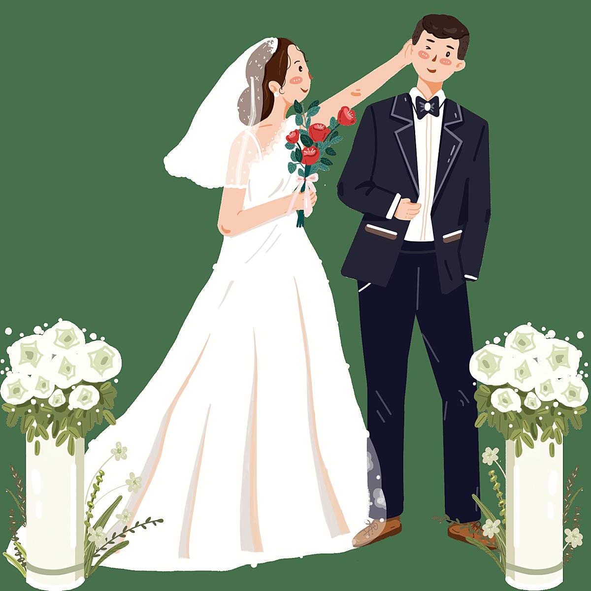 手绘-情人节婚礼大尺寸贴纸1