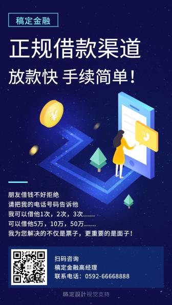 科技商务金融海报