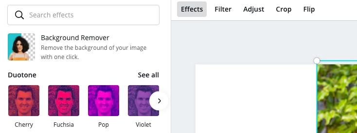 click remove background