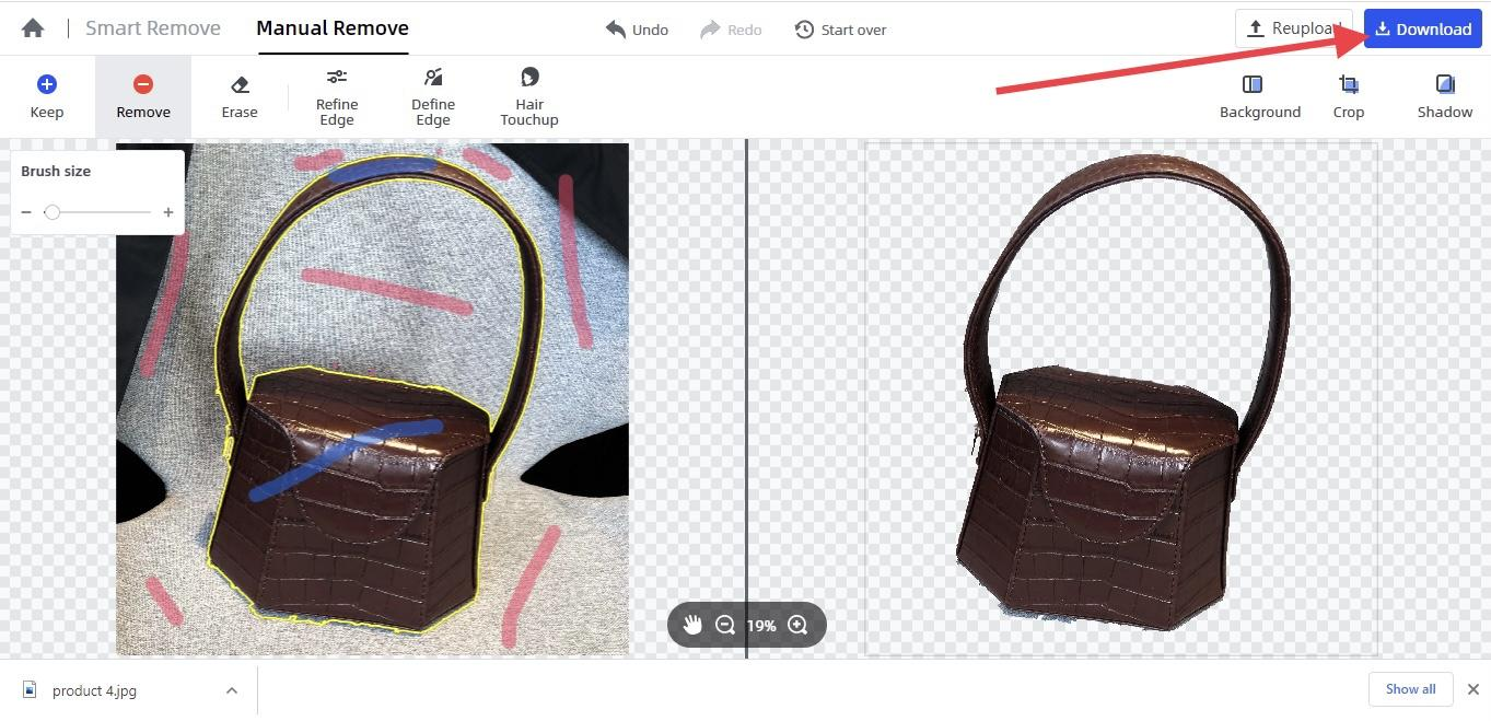 finish removing picture background