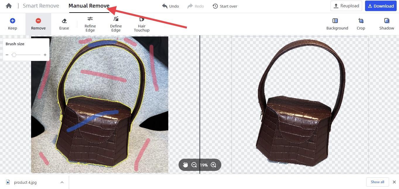 remove picture background start manual remove