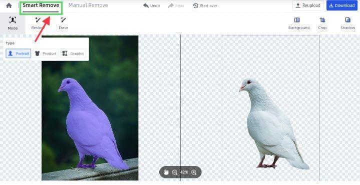 remove image background automatically