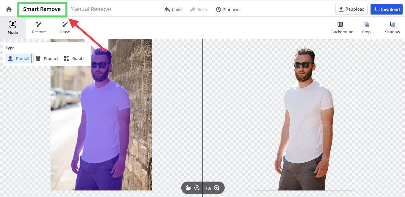 remove background automatically by FocoClipping