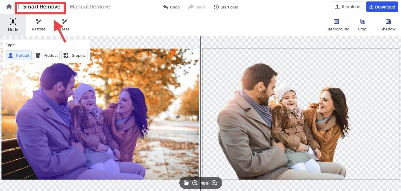 remove objects from pictures automatically by FocoClipping