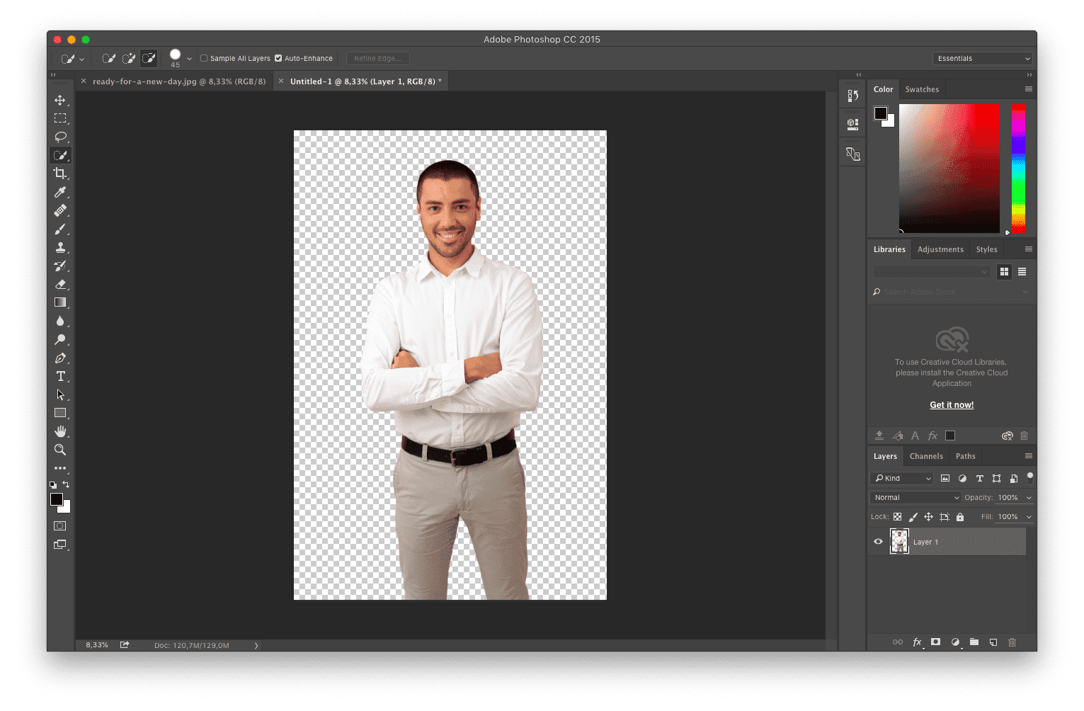 the image background become to be transparent