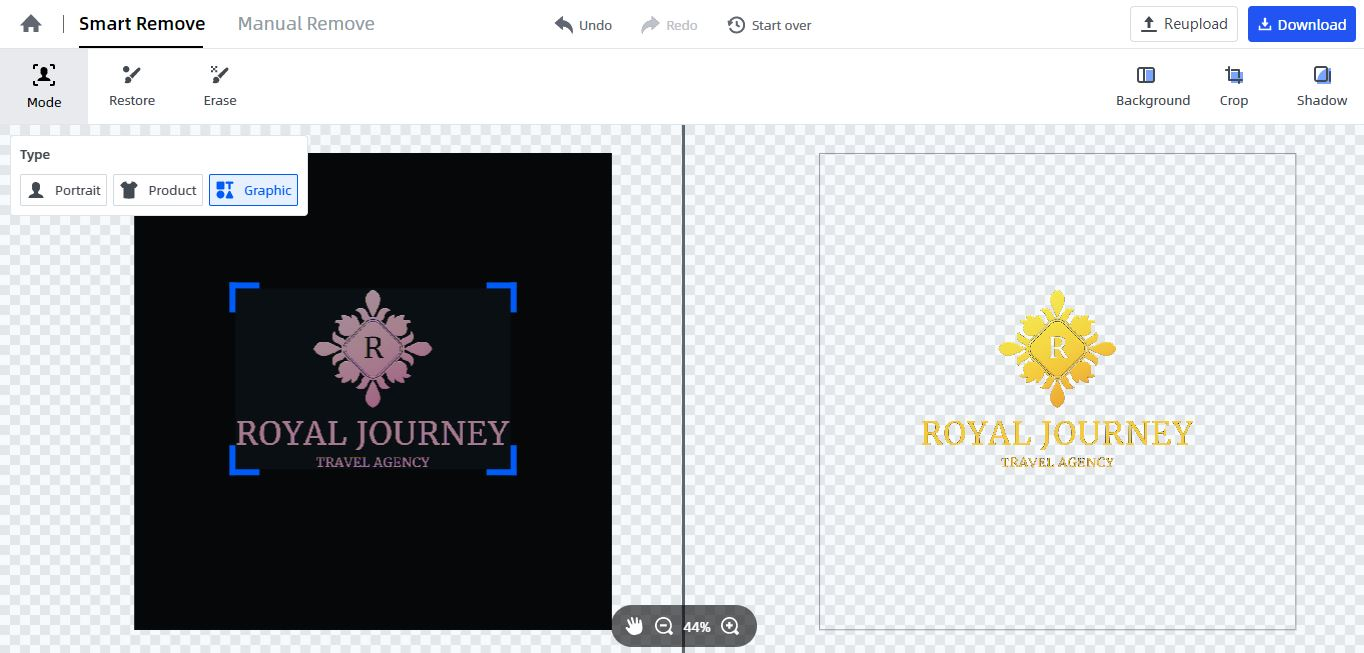 make logo background transparent automatically