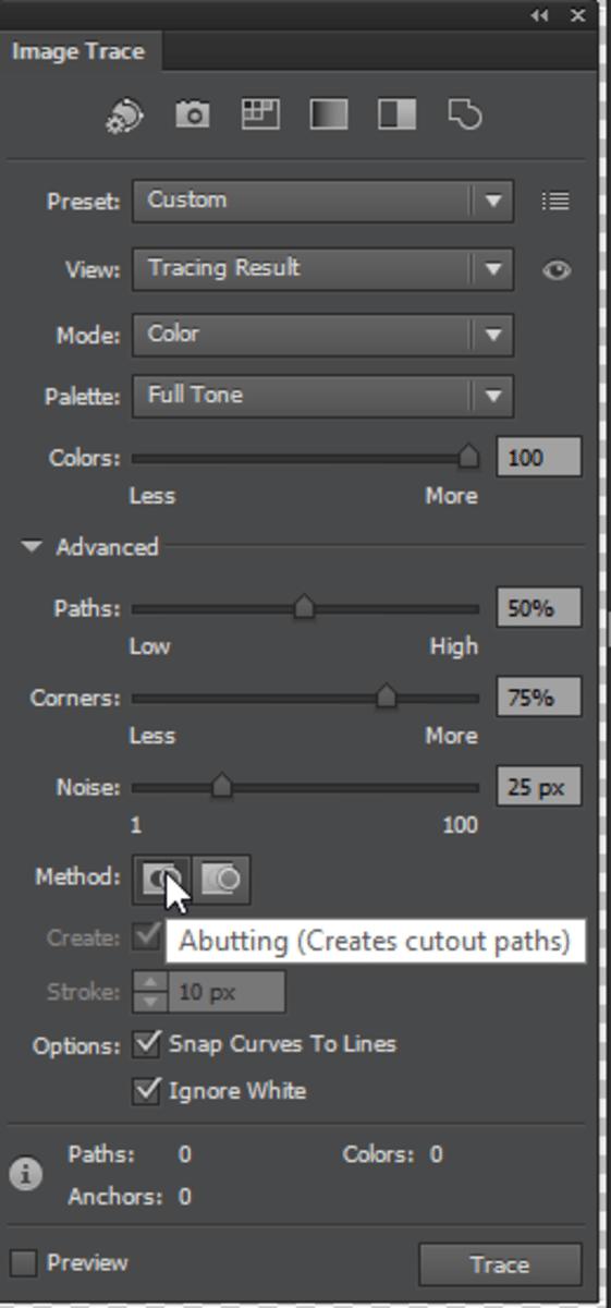 adjust tracing settings
