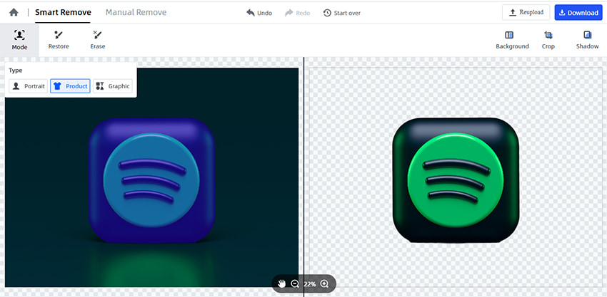 make icon transparent automatically by FocoClipping