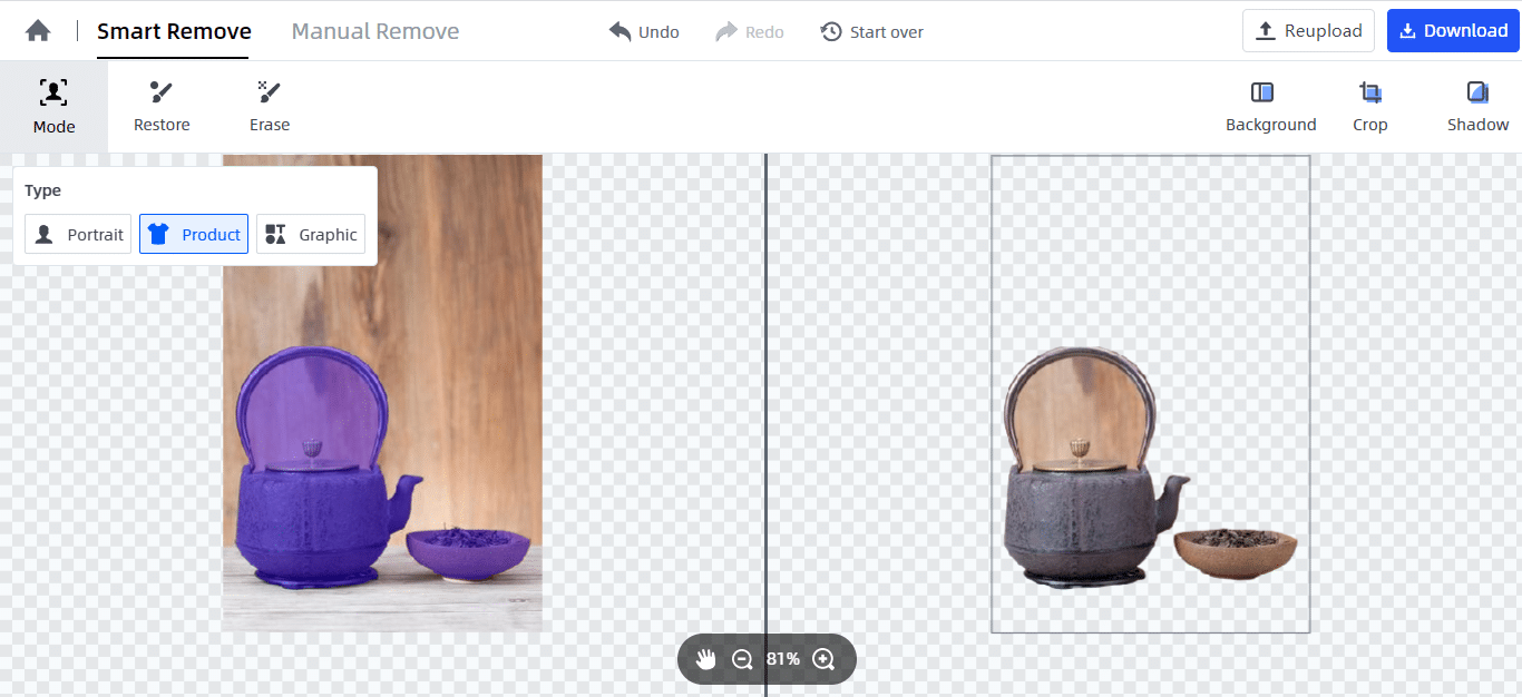 start making background transparent automatically by FocoClipping