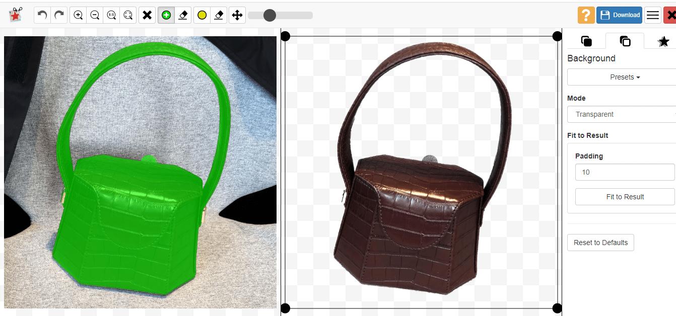 make the image transparent automatically by Photoscissor