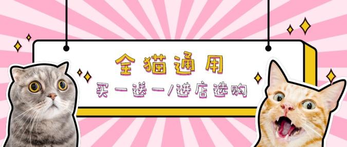 可爱萌宠宠物店/优惠促销活动/公众号首图