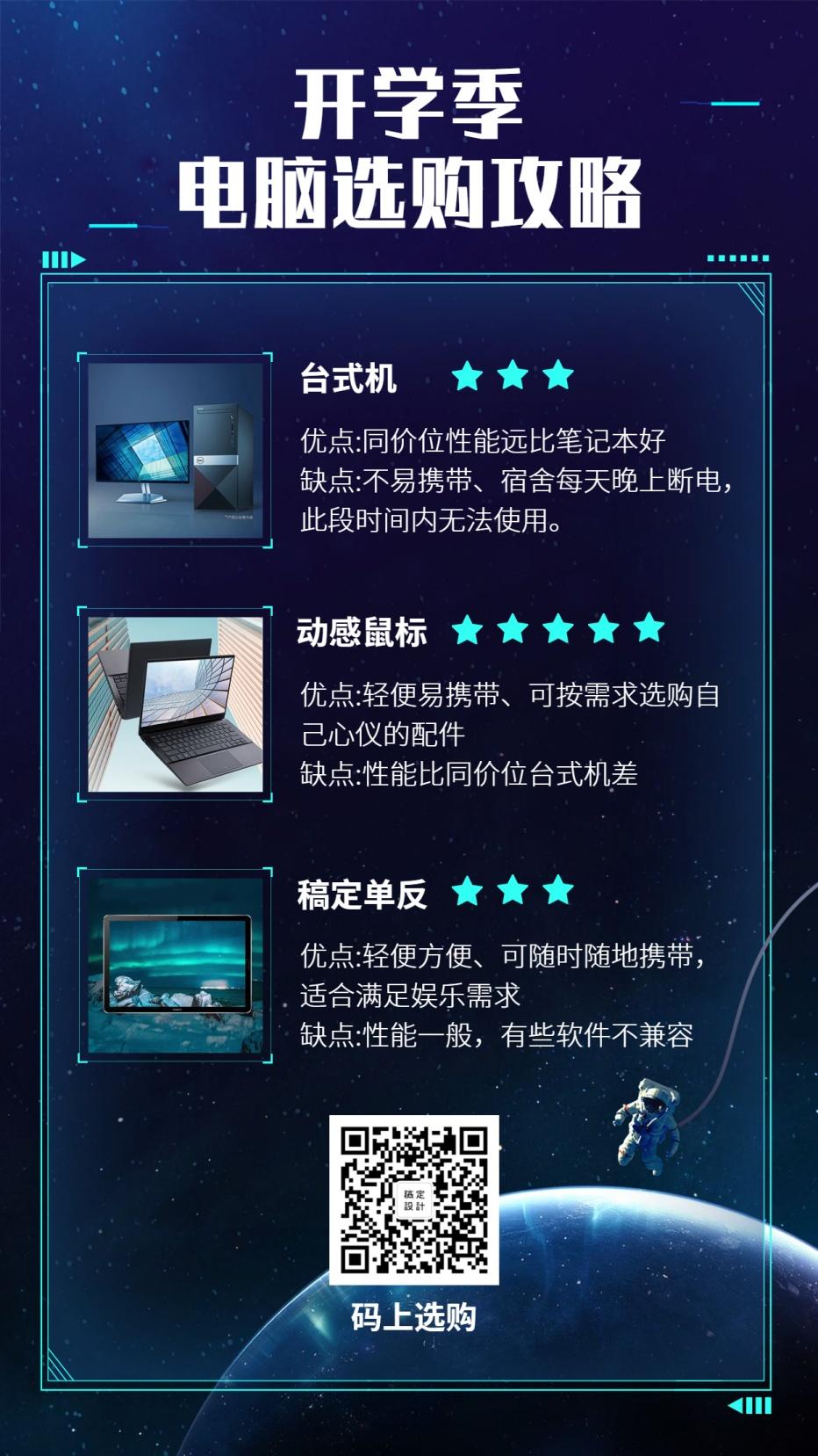 开学季/电脑选购攻略/科技/手机海报