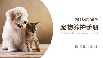 棕色清新宠物养护手册PPT