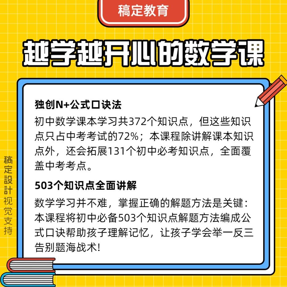 中小学/干货知识分享科普/方形海报