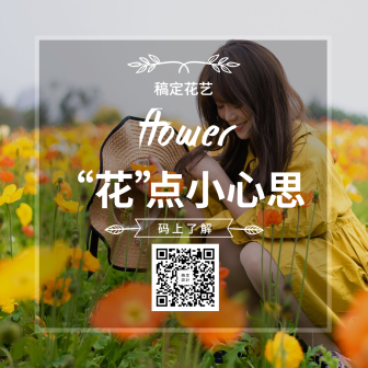 花卉/文艺清新/产品推广/方形海报