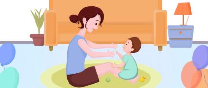 插画母婴家庭纯文字公众号首图