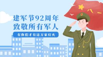 建军节92周年横版海报