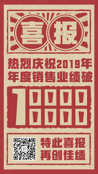 喜报复古大字报中国风手机海报